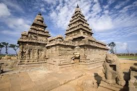 El templo de la orilla, Mahabalipuram, India