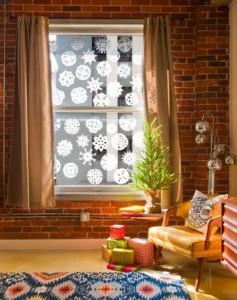 decoración en las ventanas