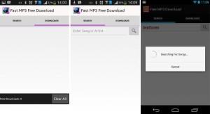 5.- Fast Mp3 Free Download aplicaciones Android para descargar música