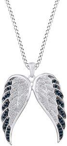 AFFY con Diseño de Alas de Ángel con Diamantes Azules los 10 mejores collares de diamante