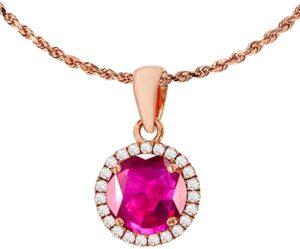DECADENCE Piedra de Nacimiento Redonda y Diamantes de 0,12 los 10 mejores collares con rubí