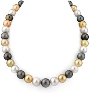 Diamond2Deal Perlas Cultivadas de 7 Multicolor Los 10 mejores collares con perlas