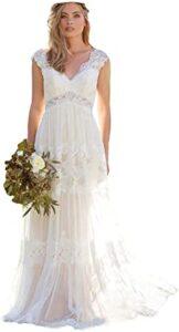Dressesonline Vestido de Novia Bohemios con Cuello en V Los 10 mejores vestidos de boda