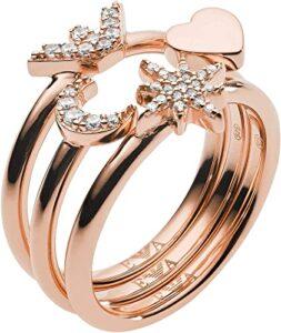 Emporio Armani EG3392221-8 Los 10 mejores anillos de plata