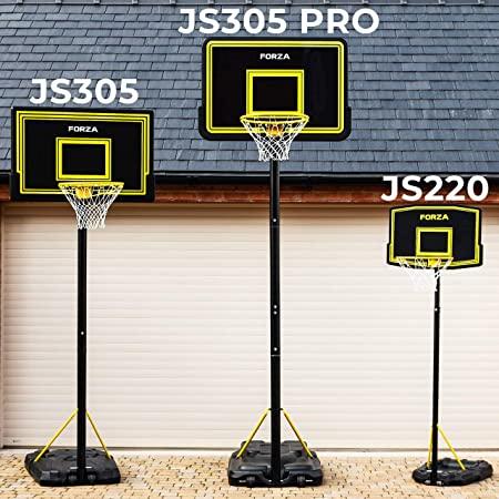 FORZA Aro de baloncesto Ajustable y Portátil de 3 tamaños