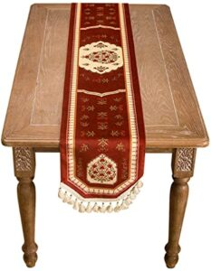 MSKW Table Runner Red American Wedding Tablecloth