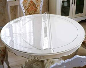 Mangco Clear Plastic Table Protector Waterproof PVC Tablecloth Crystal los 10 mejores manteles