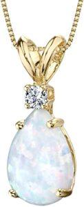 Peora Dije de Oro de 14 quilates Diamante en Forma de Lágrima los 10 mejores collares de oro para mujer
