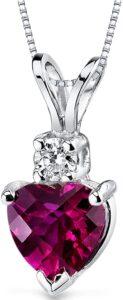 Peora con Forma de Corazón y Diamante de Rubí de 1,00 Quilates