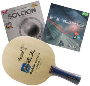 Sanwei King of Blue Arylate Carbon las 10 mejores raquetas de ping pong