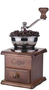 XHCP Máquina de café Vintage Manual y Manivela de Madera